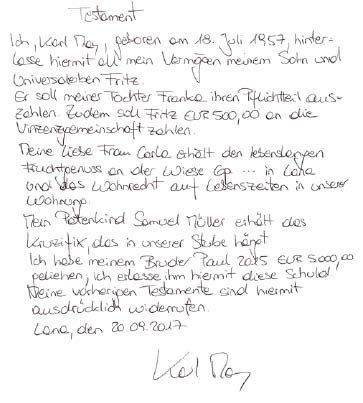 Testament Handschriftlich Vorlage 2021 0